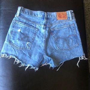 levi's denim wedgie shorts